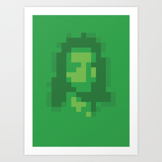 Mosaic Messiah ( Jesus ) Art Print