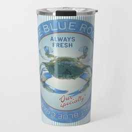 Retro Vintage Advertising Inspired Seafood Ad for Blue Crabs Travel Mug