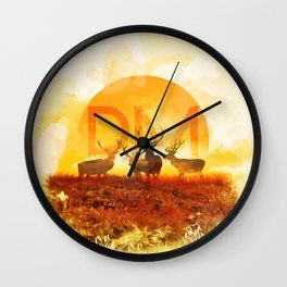 Sunset Adaption | Peter McVeigh logo Wall Clock