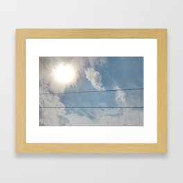 clouds and wire, asrc, no.1 Framed Art Print