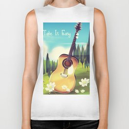 Take it Easy guitar poster. Biker Tank