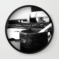 office Wall Clocks featuring Office by Difilippo