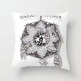 Zentangle Dreamcatcher Throw Pillow