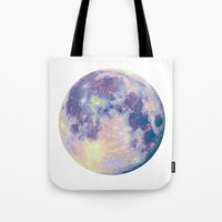 the moon Tote Bags featuring Moon by Marta Olga Klara