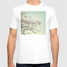 Pear Blossoms MEDIUM White Mens Fitted Tee