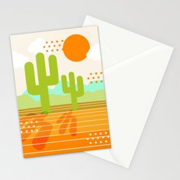 Blazin' - retro vibes southwest socal desert minimal 70s colors throwback 1970's art Stationery Cards