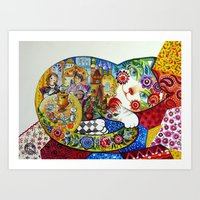 russian Art Prints featuring Russian by oxana zaika