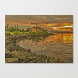 Sunset over Newark Castle Canvas Print