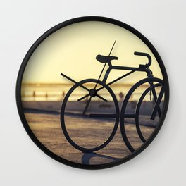 Waiting For A Ride Wall Clock