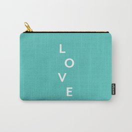 LOVE (mint) Carry-All Pouch