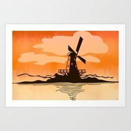 Wind-Driven Art Print