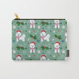 Bichon Frise dog Christmas pattern Carry-All Pouch