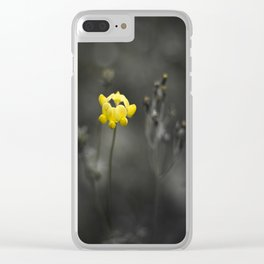Maine Wildflower Clear iPhone Case