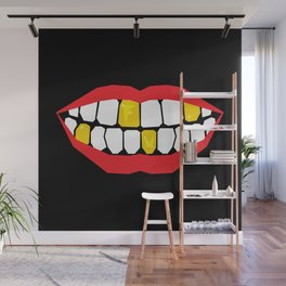 F U Teeth Wall Mural