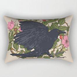 Raven and roses Rectangular Pillow