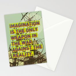 IMAGINATION IS THE ONLY WEAPON Stationery Cards