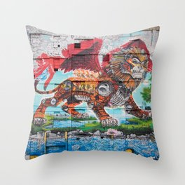 Detroit Chimera ( kī-ˈmir-ə ) Throw Pillow