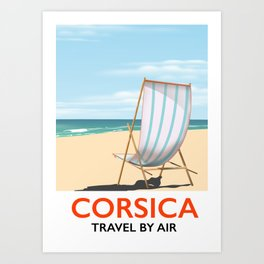 Corsica beach poster Art Print