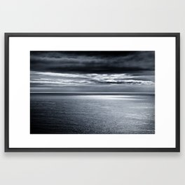 storm over water Framed Art Print