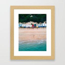 Brighton Bathing Boxes Framed Art Print