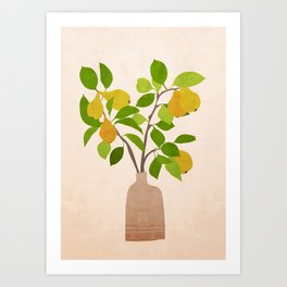 Pears in a vase Art Print