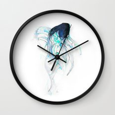 Ghost Fish Wall Clock