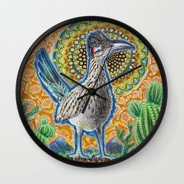 Attention (Roadrunner & Rattlesnake) Wall Clock
