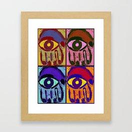 Pop Art Hamsas Framed Art Print