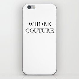 W COUTURE iPhone Skin