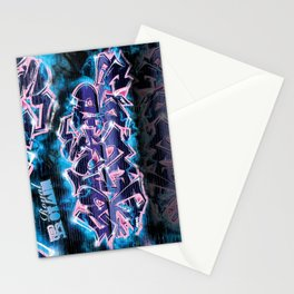 Pager Graffiti Mural Royal Stain Stationery Cards