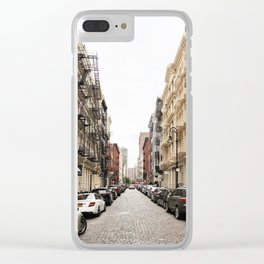 Quiet Street, Soho Clear iPhone Case