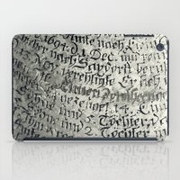 writing iPad Cases featuring ancient writing by Falko Follert Art-FF77