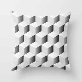 Isometric Cube Pattern Throw Pillow
