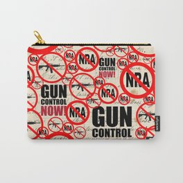 No Guns Anti-gun Violence Protest Design on Journal Carry-All Pouch