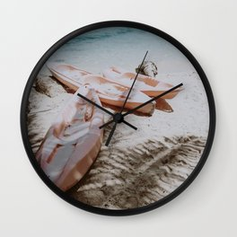 little boats / philippines Wall Clock