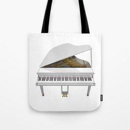 White Grand Piano Tote Bag