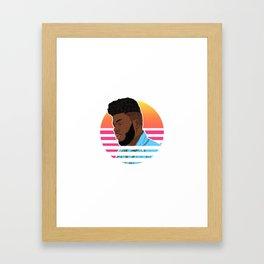 Khalid Retro Framed Art Print