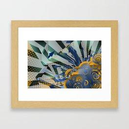 Vector Cubism Framed Art Print