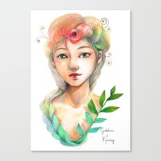 Goddess of  Spring Canvas Print