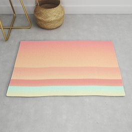 Big Sur Sunset Beach Color Rug