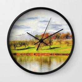 Across the Pond Wall Clock