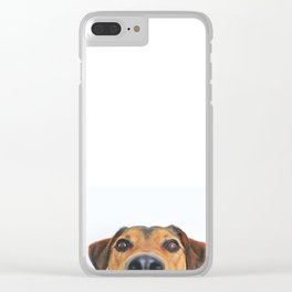 Dog looking at you Clear iPhone Case