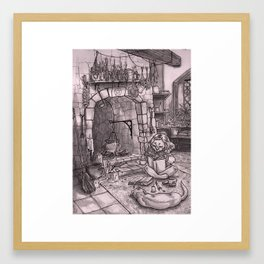 Witch Casting A Spell Framed Art Print