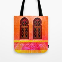 morocco Tote Bags featuring Morocco  by Xchange Art Studio