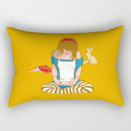 Alice in Mario Land Rectangular Pillow