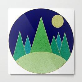 Dark Night Forest Metal Print