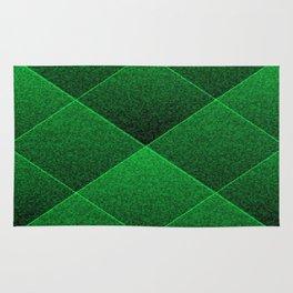 Plush Kelly Green Diamond Rug