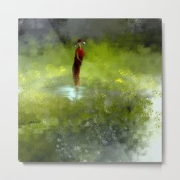 A Puddle Just for Her Metal Print