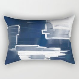 Navy abstract texture Rectangular Pillow