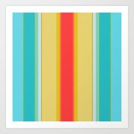 sandcastle deckchair stripe Art Print